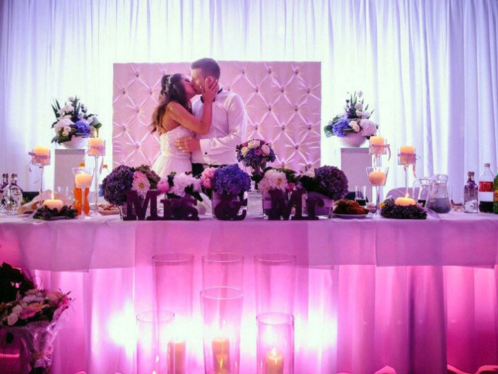 Dekoracja swiatlem na wesele