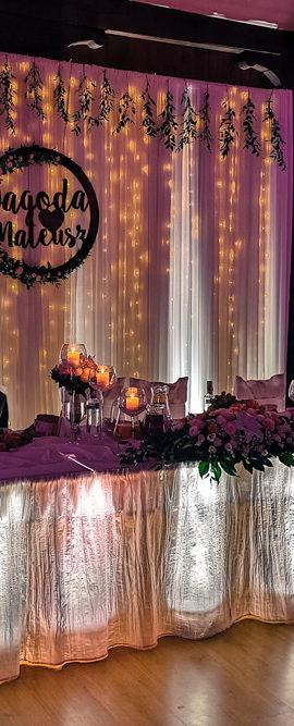 Dekoracja światłem wesele Ostrówce