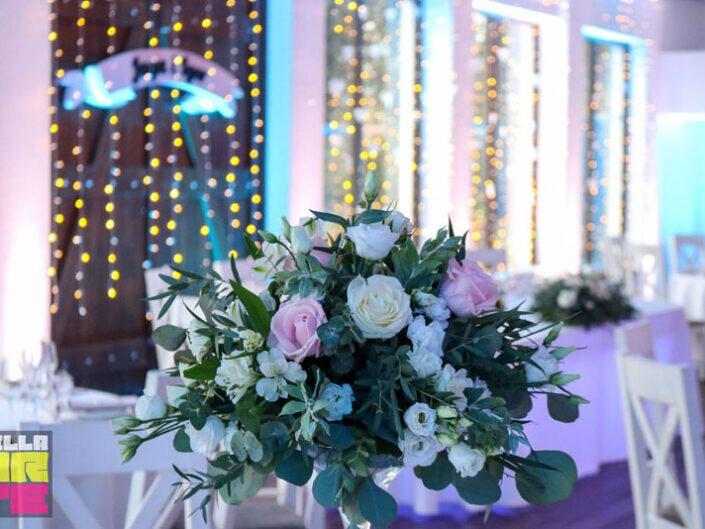 Dekoracja sali światłem, dekoracja wesele Poznań