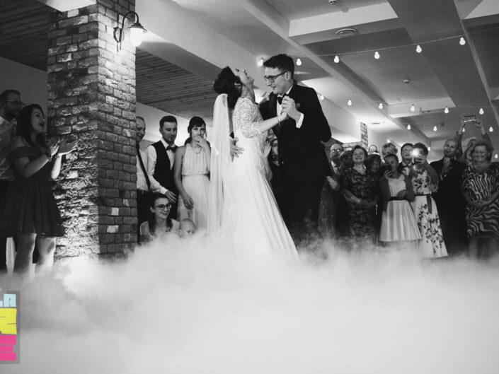Ciężki dym na wesele Piła. Pierwszy taniec. Spacer w chmurach.