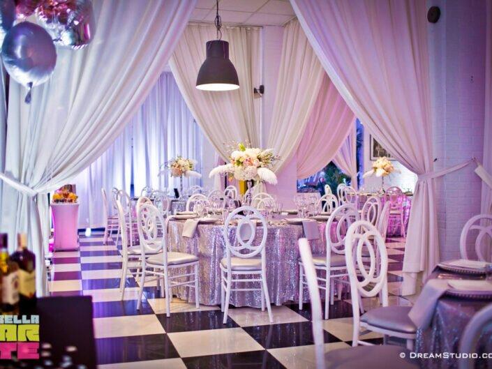 Bella-arte dekoracja światłem na wesele i urodziny