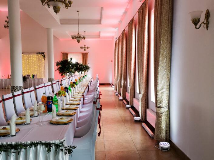 Dekoracja światłem wesele Bumerang Ostaszewo