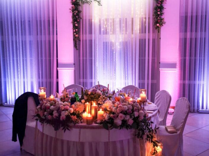 """Bella-arte dekoracja światłem wesele """"Liliowy Staw"""""""