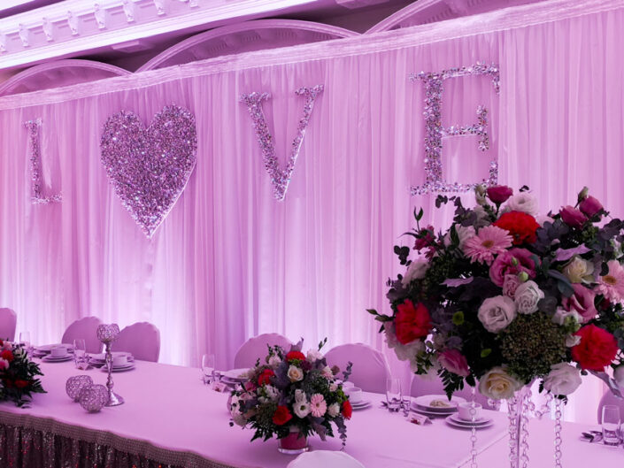 Dekoracja światłem wesele Dwór Biesiadny - Rojewo